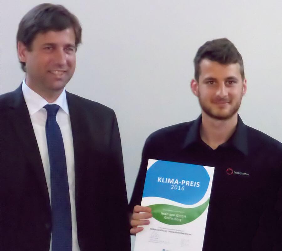 Hofmann CNC · Klimapreis 2016