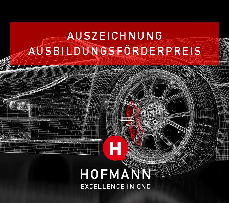 Hofmann CNC Auszeichnung Ausbildungsförderpreis