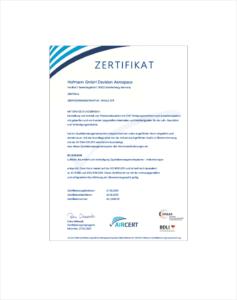 Hofmann · Excellence in CNC · EN 9100 Zertifikat